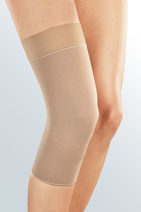 medi elastic knee support caramel