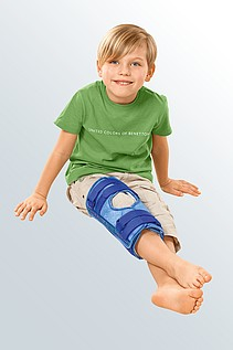 splint immobilization knee cap kids